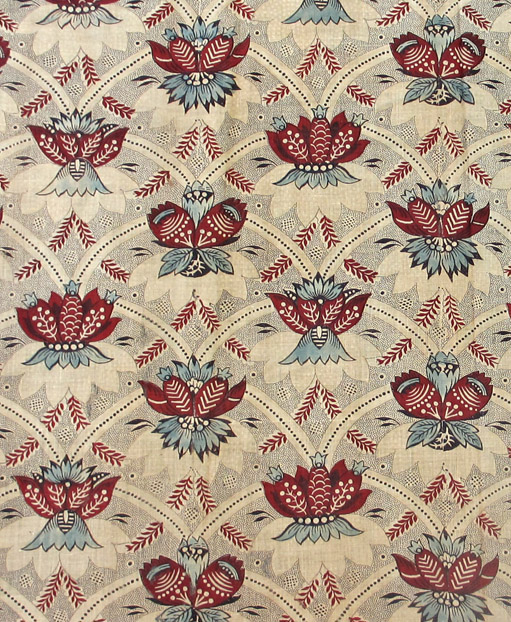 T217 textile, printed design repeat