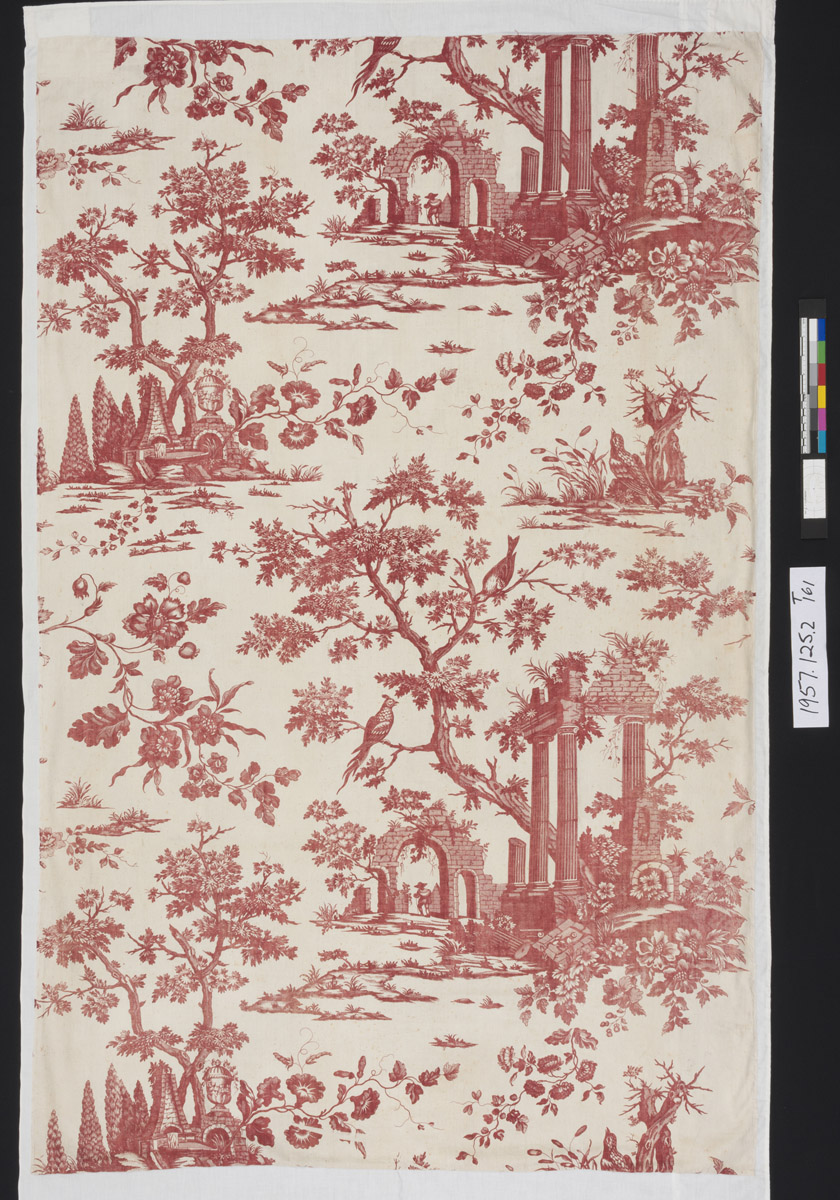 1957.0125.002 Textile, printed, view 1