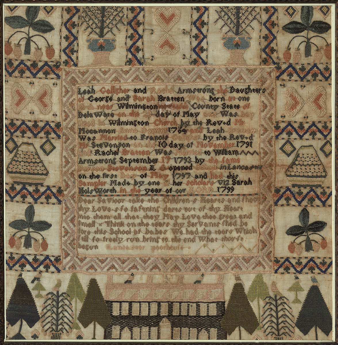 Textiles (Needlework) - Sampler