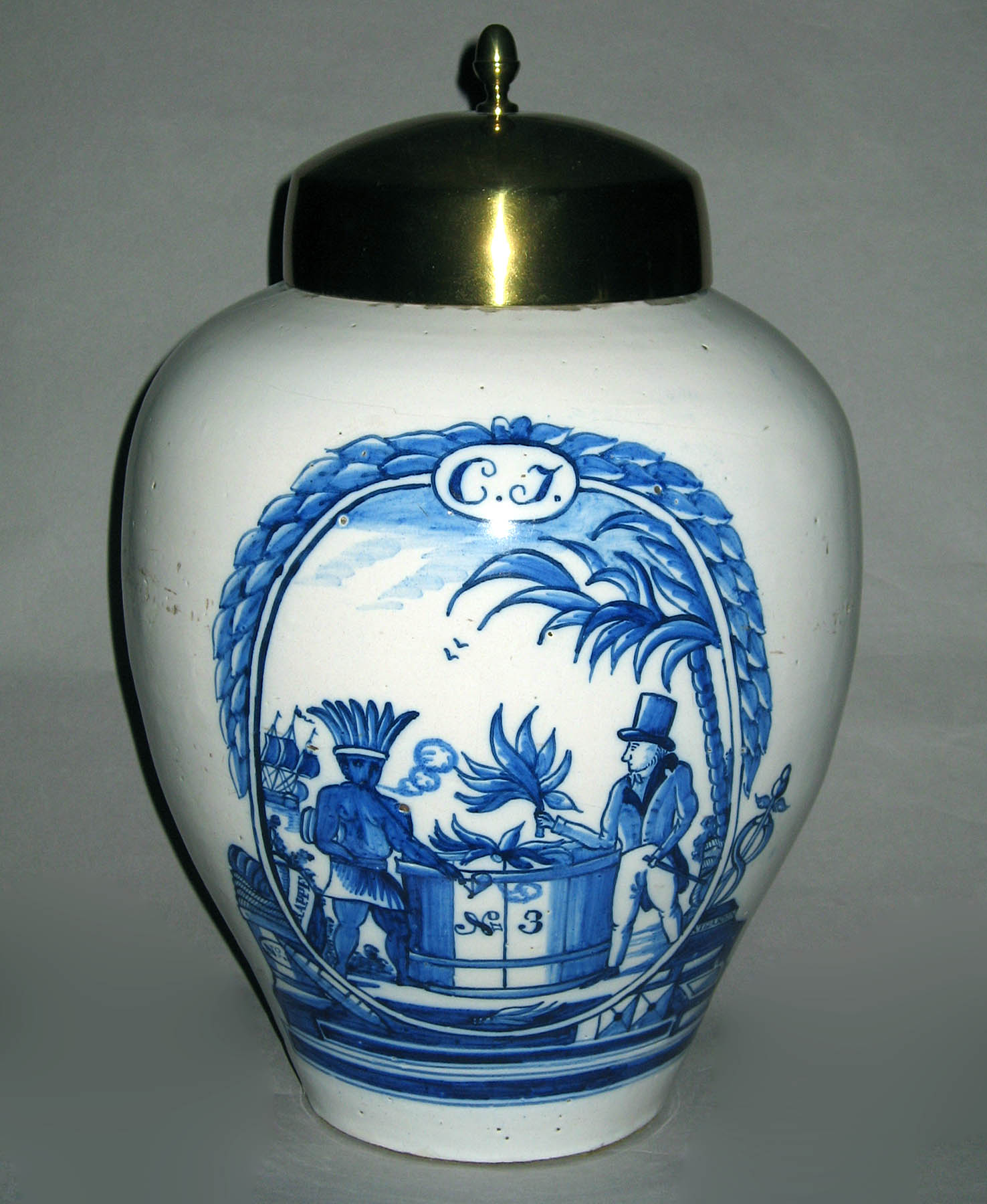 1952.0312.001 Delft tobacco jar