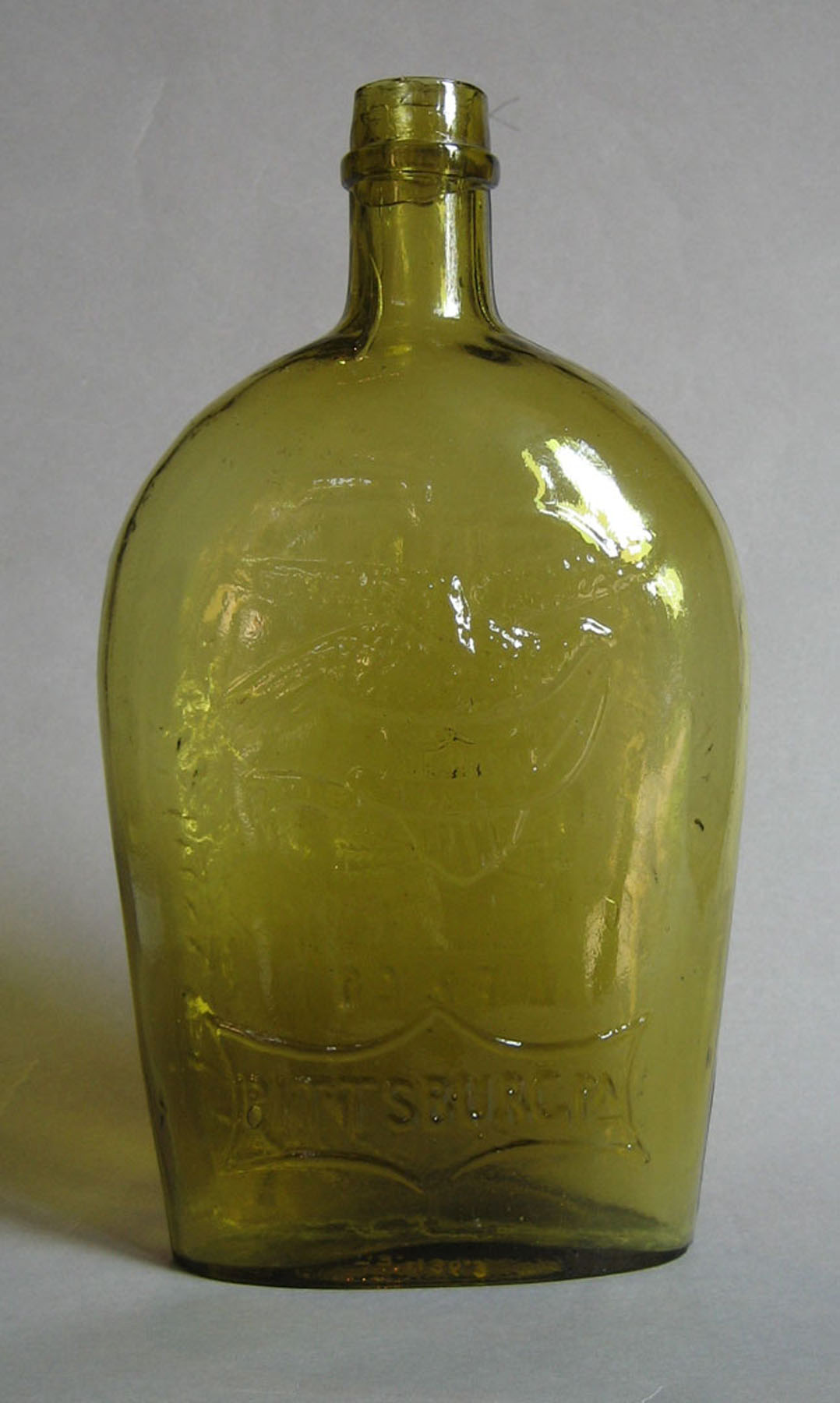 1973.0436.003 (side 1) Glass Flask