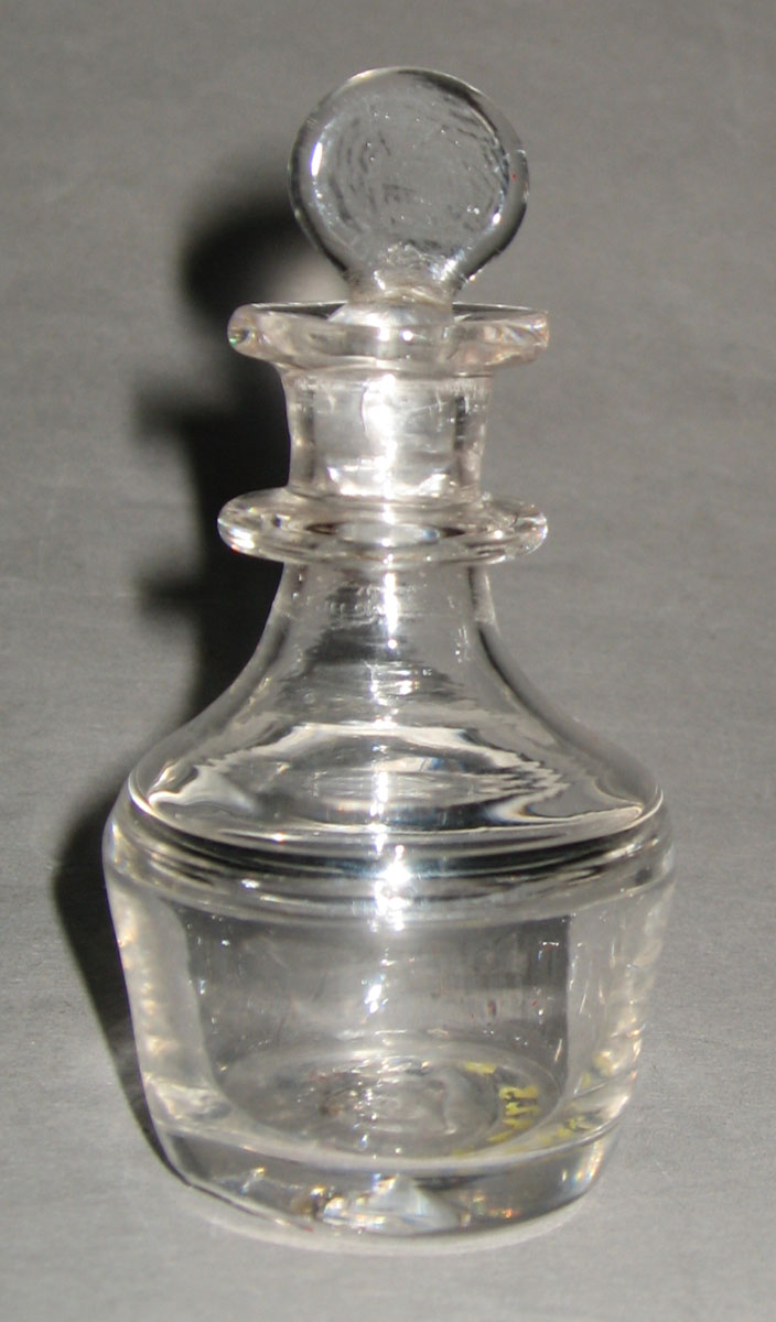 1958.2925 A, B Lead glass toy decanter