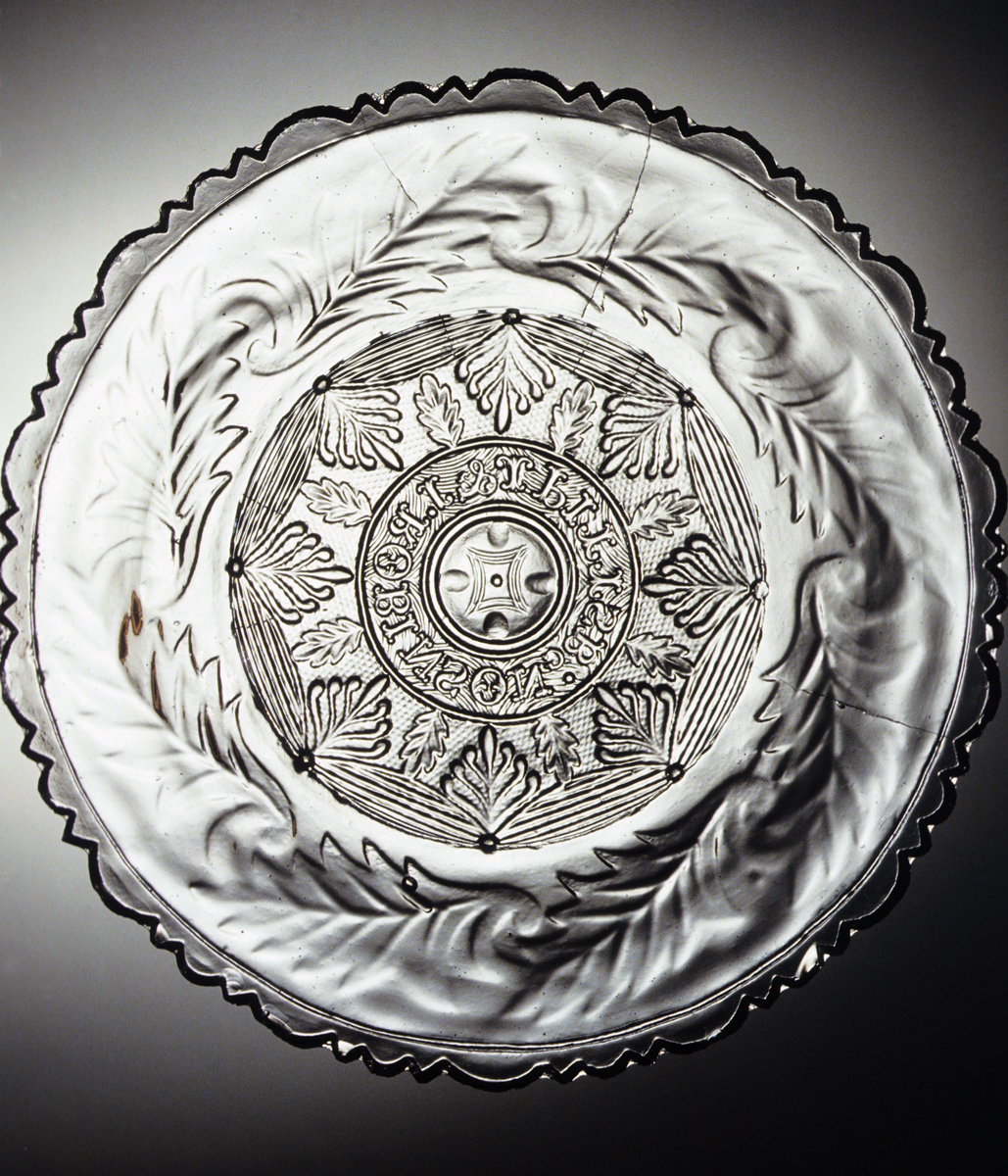 1978.0042 Colorless nonlead glass plate