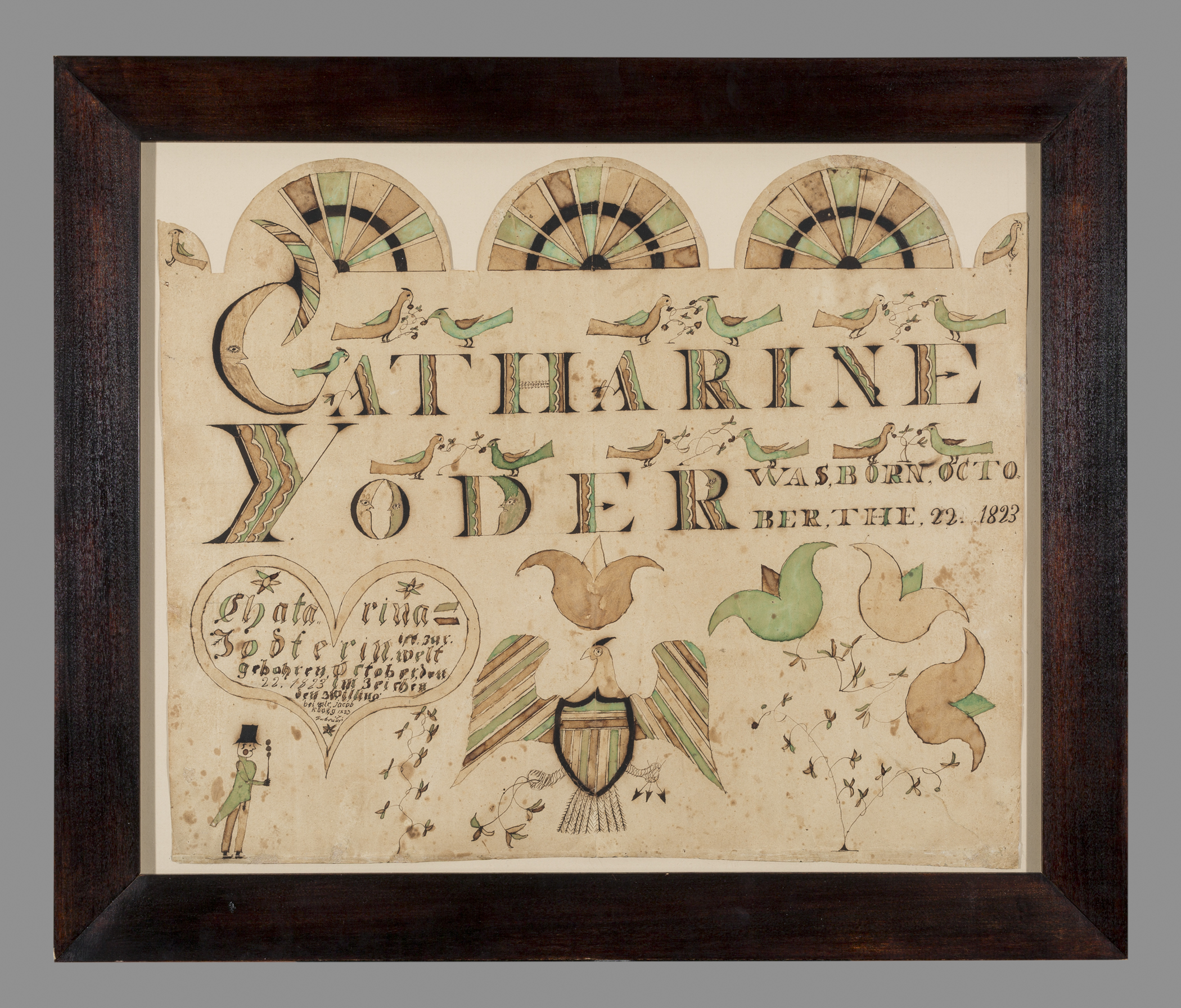 Works On Paper Fraktur Birth Certificate Search The Collection