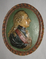 Plaque - Male portrait