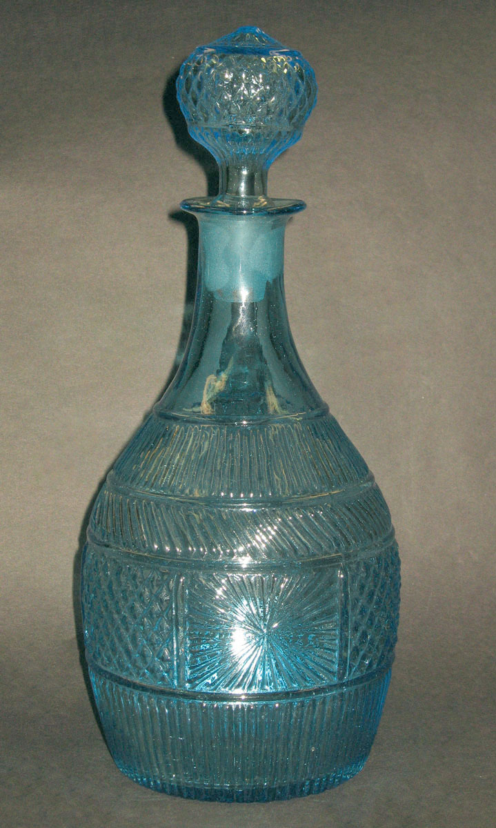 1957.0019 A, B Glass decanter