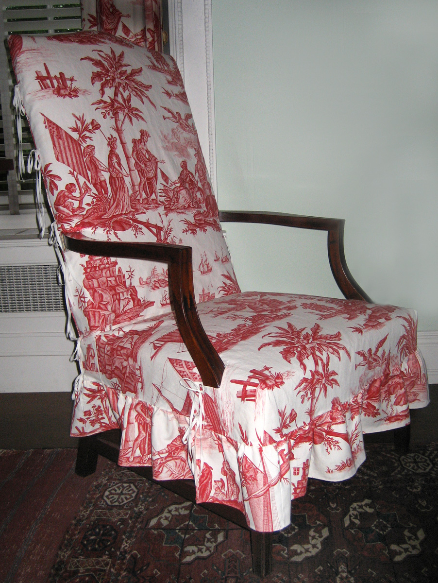 1957.0929 chair with R2001.0002.007 slip cover view 1