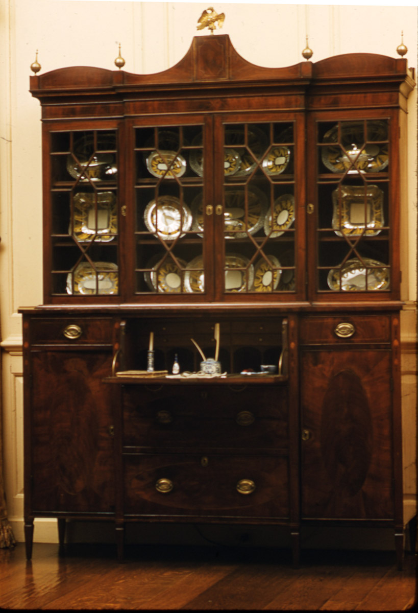 1957.0844 Secretary and bookcase, Gentleman's secretary