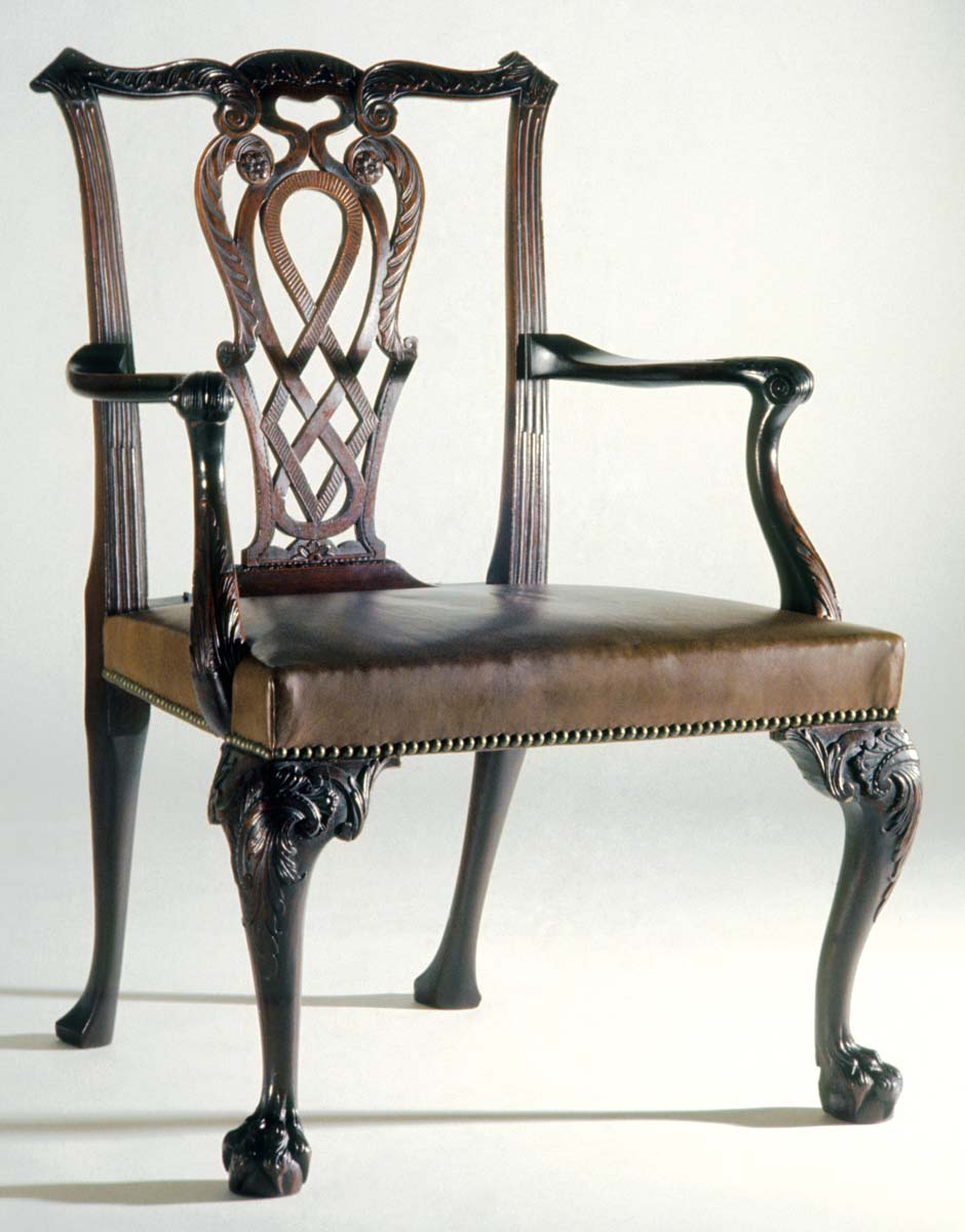 1951.0080 Chair, Armchair, view 2