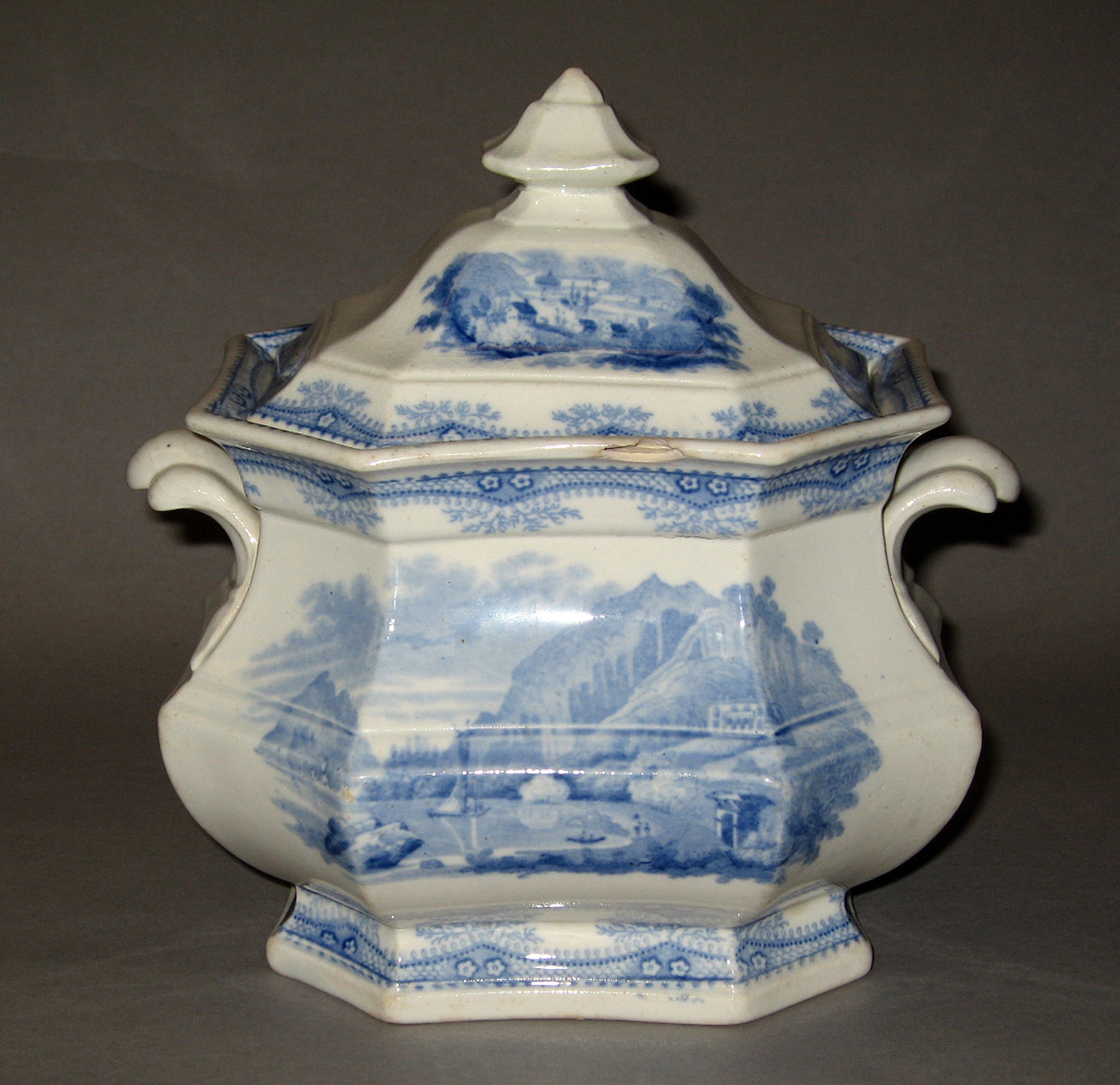 1965.2915.018 Ridgway earthenware sugar bowl