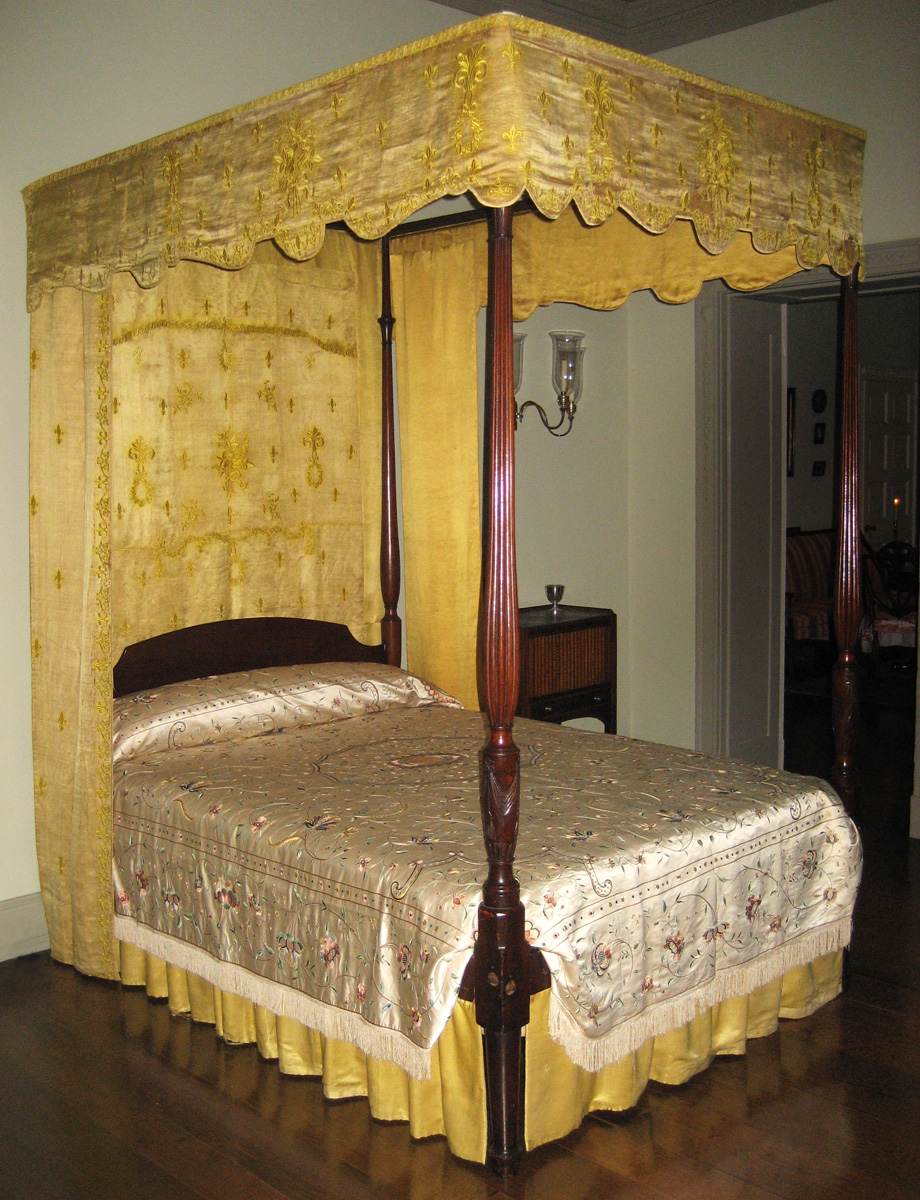 1955.0791 Bed with Bed hangings 1957.1306 view 1