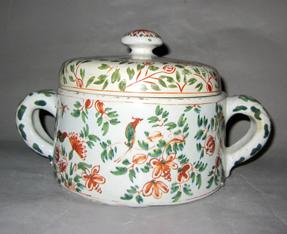 1964.1340 A,B Delft flower container