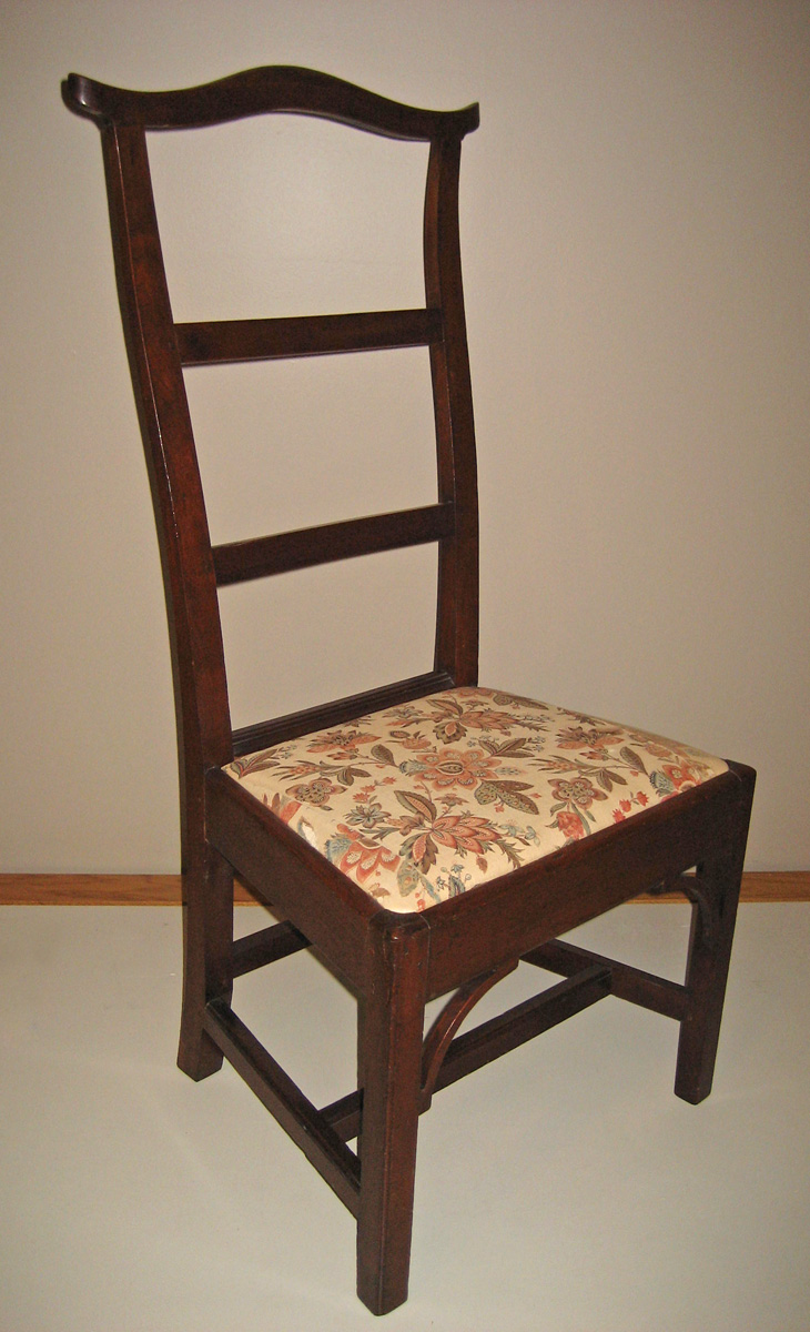 1957.0103.004 Chair, Side chair with 1969.3082.004 Slip seat view 1