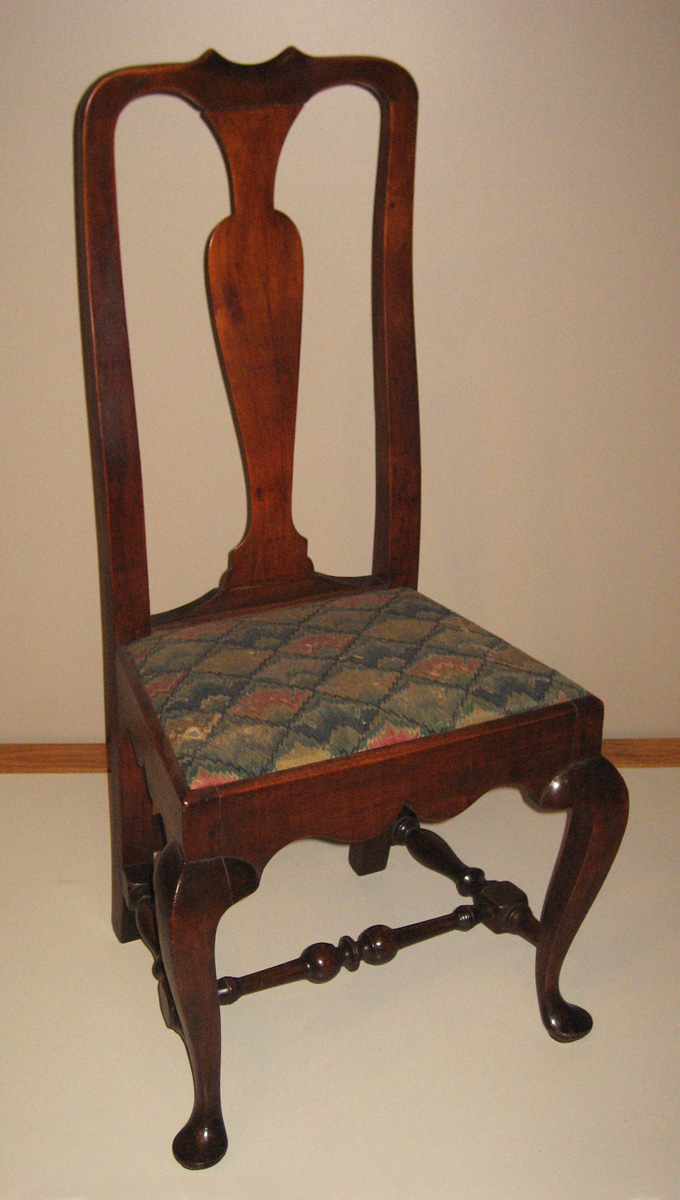 1958.2220 Chair, side chair with unnumbered slip seat view 1