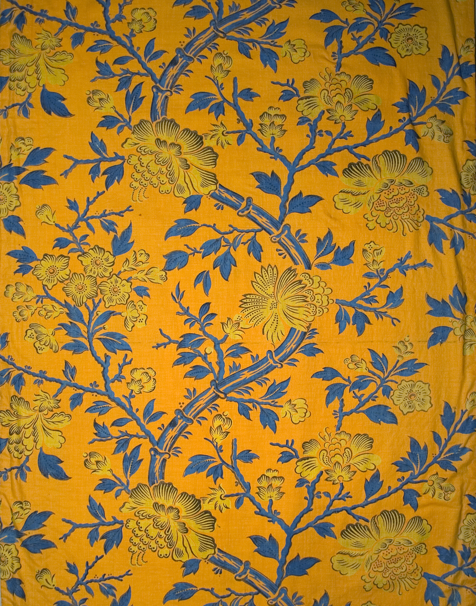T1215 textile, printed design repeat
