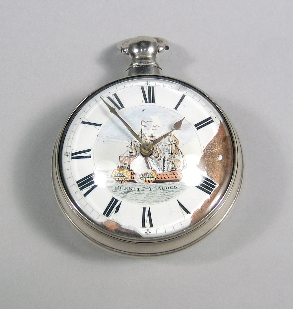 1957.0041.002 A-C Silver Pocket watch upper surface